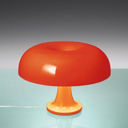 Artemide Nessino, oranžová designová stolní lampa, 4x20W E14, výška 22cm