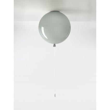 6705 7 brokis memory stropni svitici balonek ze sedeho skla 1x15w e27 prum 40cm