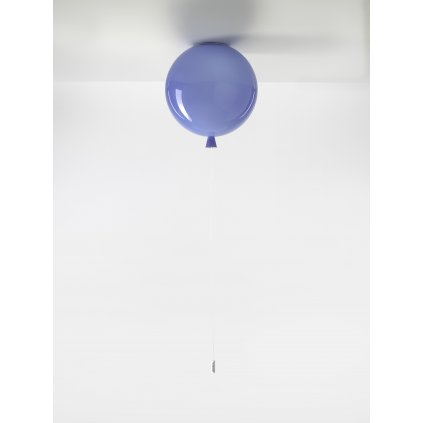 6708 7 brokis memory stropni svitici balonek z modreho skla 1x15w e27 prum 30cm