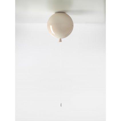 6711 7 brokis memory stropni svitici balonek ze svetle ruzoveho skla 1x15w e27 prum 30cm