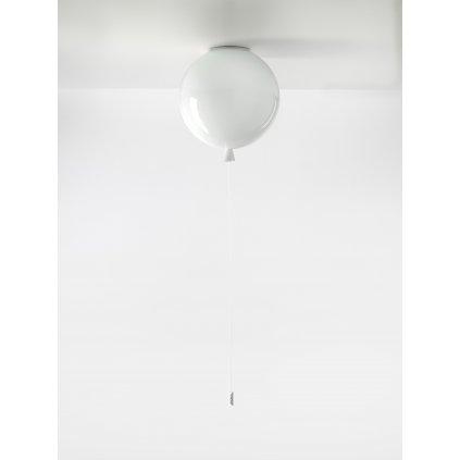 6714 7 brokis memory stropni svitici balonek ze bileho skla 1x15w e27 prum 30cm