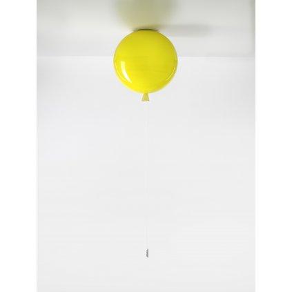 6717 7 brokis memory stropni svitici balonek ze zluteho skla 1x15w e27 prum 30cm
