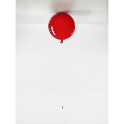 6723 7 brokis memory stropni svitici balonek z cerveneho skla 1x15w e27 prum 30cm