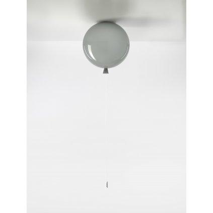 6732 7 brokis memory stropni svitici balonek ze sedeho skla 1x15w e27 prum 30cm