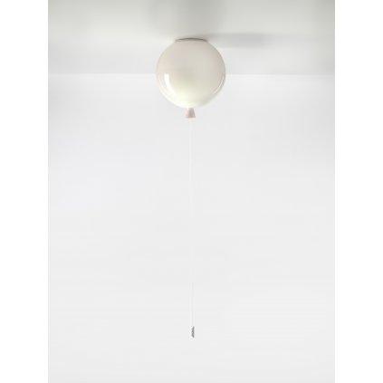 6738 7 brokis memory stropni svitici balonek ze svetle ruzoveho skla 1x15w e27 prum 25cm
