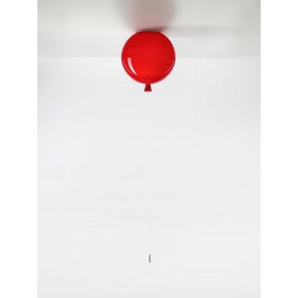 6750 7 brokis memory stropni svitici balonek z cerveneho skla 1x15w e27 prum 25cm
