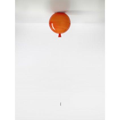 6753 7 brokis memory stropni svitici balonek z oranzoveho skla 1x15w e27 prum 25cm
