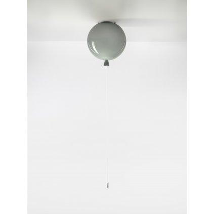 6759 7 brokis memory stropni svitici balonek ze sedeho skla 1x15w e27 prum 25cm