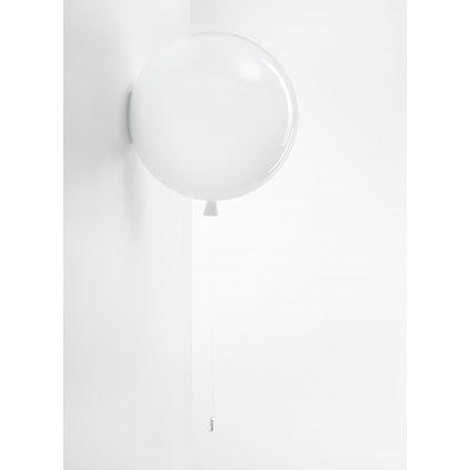6768 6 brokis memory nastenne svitici balonek ze bileho skla 1x15w e27 prum 40cm