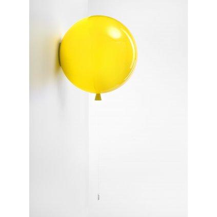 6771 6 brokis memory nastenny svitici balonek ze zluteho skla 1x15w e27 prum 40cm