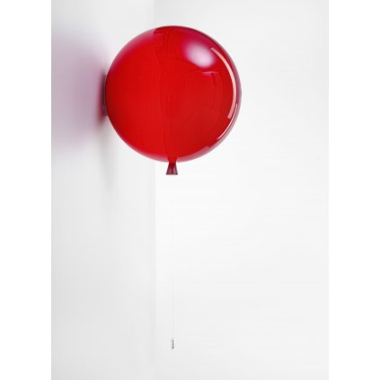 6777 7 brokis memory nastenny svitici balonek z cerveneho skla 1x15w e27 e27 prum 40cm