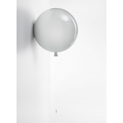 6783 7 brokis memory nastenny svitici balonek ze sedeho skla 1x15w e27 prum 40cm