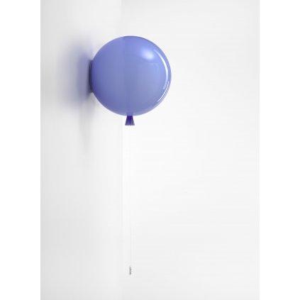 6789 6 brokis memory nastenny svitici balonek z modreho skla 1x15w e27 prum 30cm