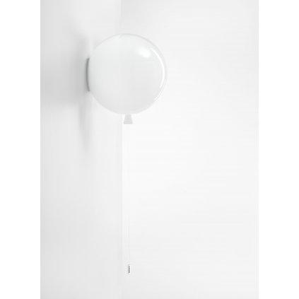 6795 6 brokis memory nastenny svitici balonek ze bileho skla 1x15w e27 prum 30cm