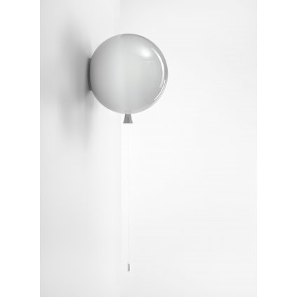 6807 6 brokis memory nastenny svitici balonek ze sedeho skla 1x15w e27 prum 30cm