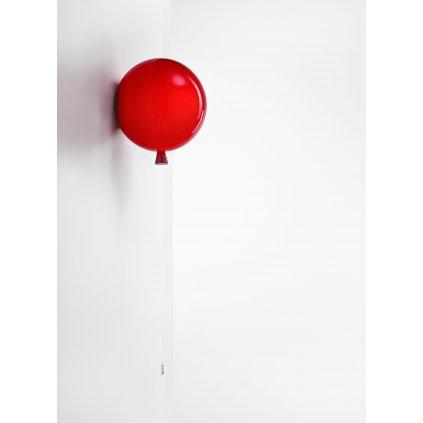 6810 7 brokis memory nastenny svitici balonek z cerveneho skla 1x15w e27 prum 25cm