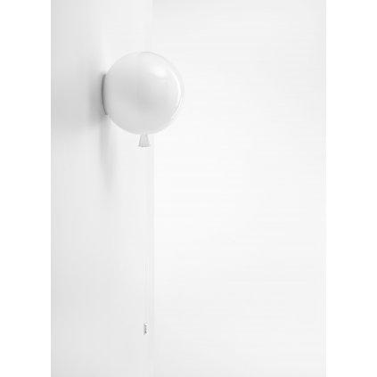 6819 6 brokis memory nastenny svitici balonek ze bileho skla 1x15w e27 prum 25cm