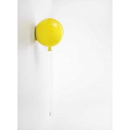 6822 6 brokis memory nastenny svitici balonek ze zluteho skla 1x15w e27 prum 25cm