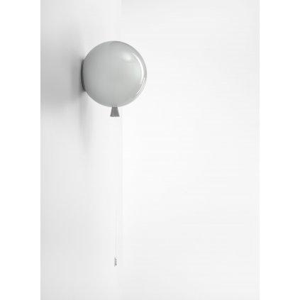 6831 6 brokis memory nastenny svitici balonek ze sedeho skla 1x15w e27 prum 25cm