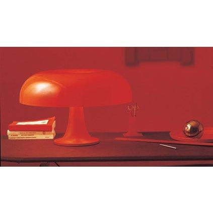 Artemide Nesso, oranžová designová stolní lampa, 4x25W E14, výška 34cm