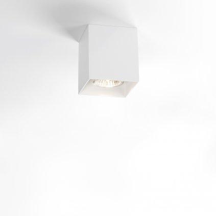 Deltalight Boxy, bílé stropní hranaté svítidlo, 1x50W, výška: 9cm