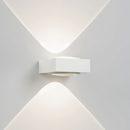 Deltalight Vision NW LED, bílé nástěnné LED svítidlo, 2x2W LED s teple bílou barvou světla, 12,6x12,6cm