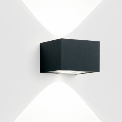 Deltalight Vision Out LED, 2x1,6W LED, 3000K, tmavě šedá, šířka 12,6cm, IP55