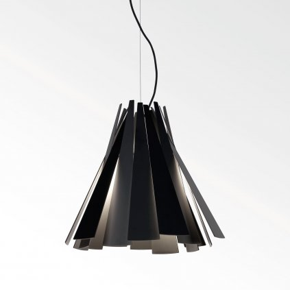 Deltalight Metronome, černé závěsné svítidlo, 1x60W, délka 39cm