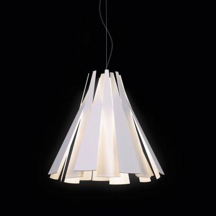 Deltalight Metronome, bílé závěsné svítidlo, 1x60W, délka 39cm