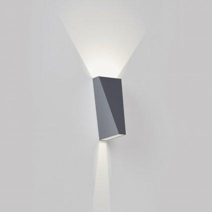 Deltalight Topix, hliníkové nástěnné svítidlo, 2x1W LED, výška: 13,5cm