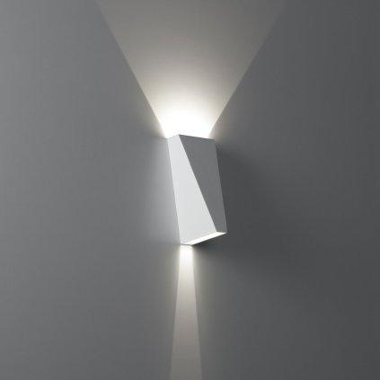 Deltalight Topix, bílé nástěnné svítidlo 2x1W LED, výška: 13,5cm
