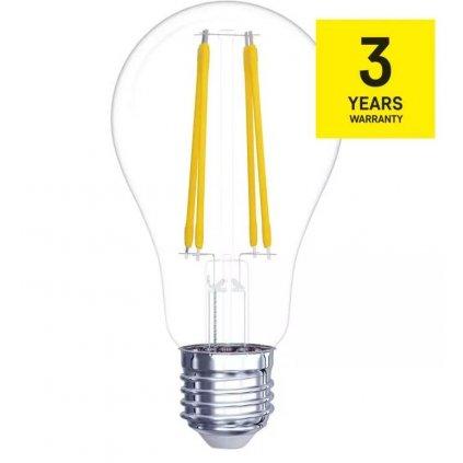 LED žárovka filament E27 4W, 470lm, náhrada za 40W, teplá bílá 2700K