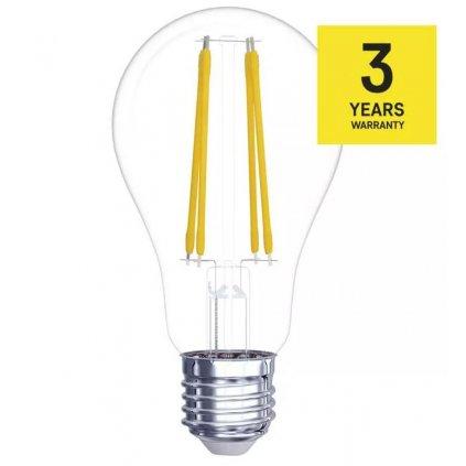 LED žárovka filament E27 6W, 806lm, náhrada za 60W, teplá bílá 2700K