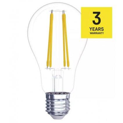 LED žárovka filament stmívatelná E27 8,5W, 1060lm, náhrada za 75W, teplá bílá 2700K