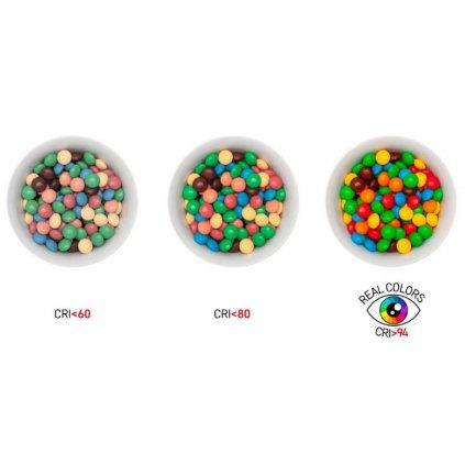 LED žárovka 7W GU10 2700K Ra96 náhrada za 45W