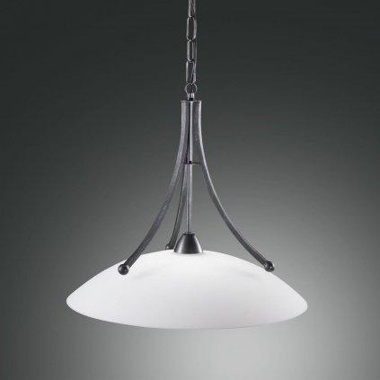 Fabas Devon, závěsné svítidlo v klasickém stylu, 1x100W, břidlice