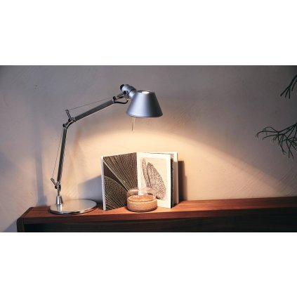 Artemide Tolomeo Micro halo Table, tělo lampy, 1x46W E14, červená
