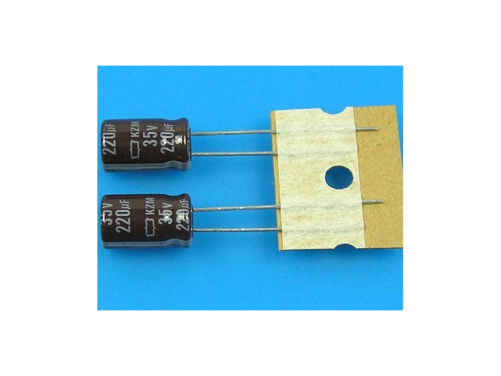 220uF 35V 105 C Nippon KZM kondenzator elektrolyticky low ESR long life high ripple current a57371932 10699