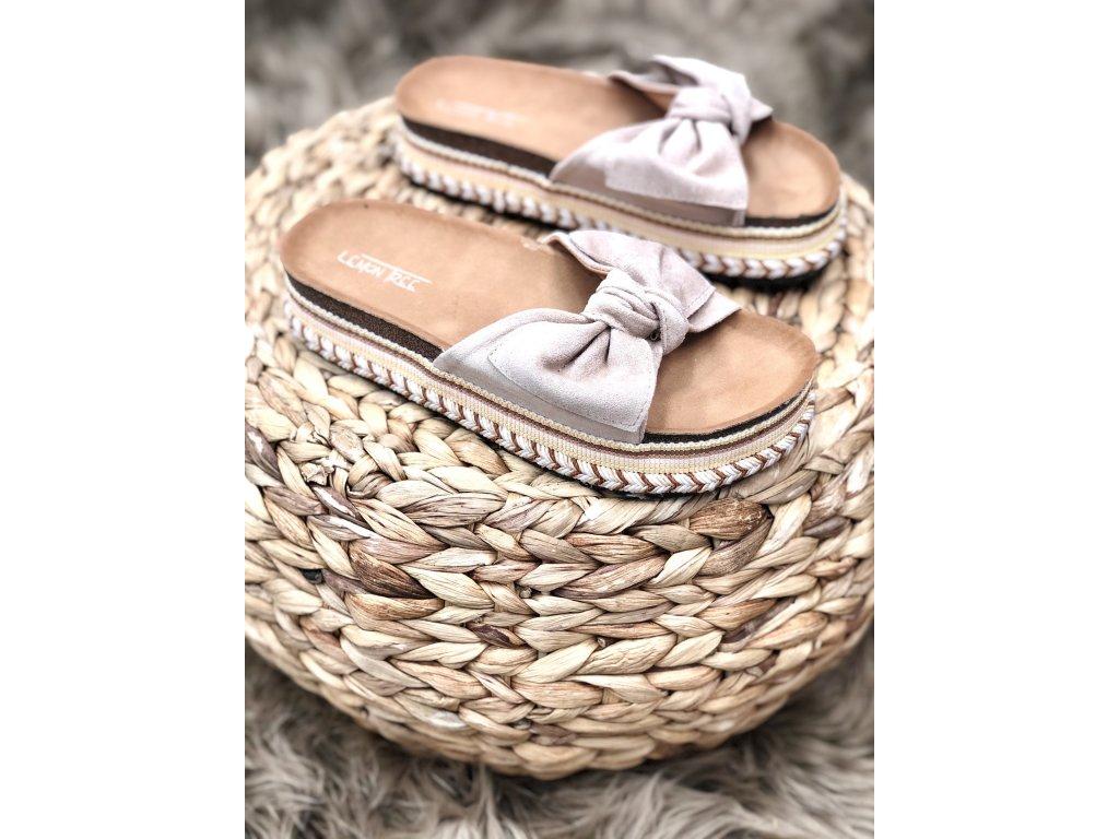 Béžové pantofle Valeria