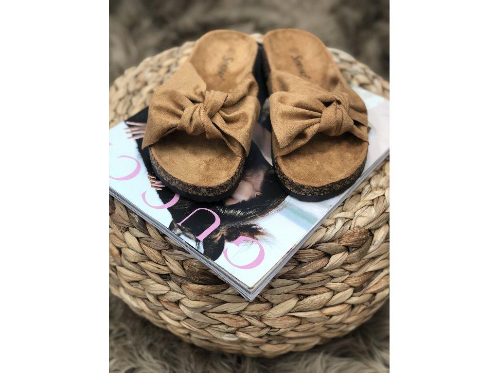Hnědé pantofle Penelope