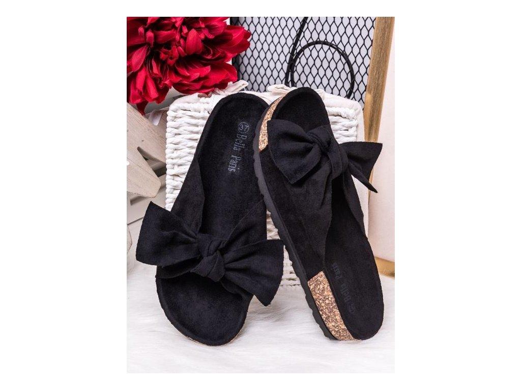 Černé pantofle Penelope