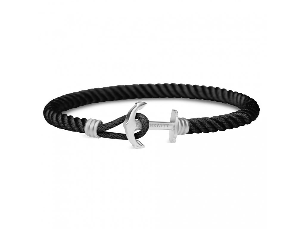 Náramek Anchor Lite Black Silver