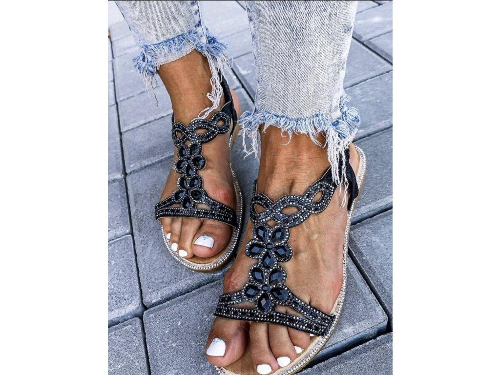 Černé sandálky Veneza