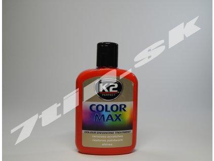 K2 Color max farebný vosk na lak (červený) 200 ml