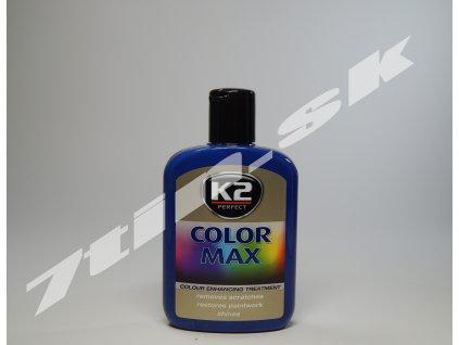 K2 Color max farebný vosk na lak (modrý) 200 ml