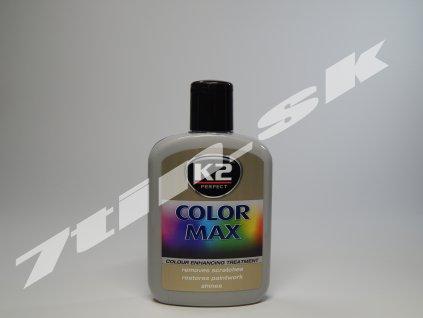 K2 Color max farebný vosk na lak (sivý) 200 ml