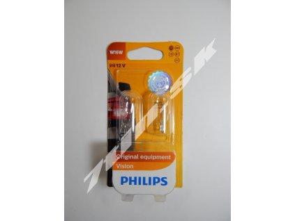 Philips Vision W16W W2,1x9,5d 12V 16W duobox