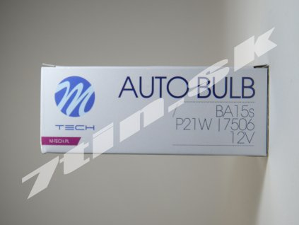 M tech Auto bulb P21W, BA15s 12V 21W (10 ks)