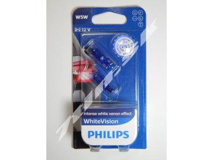 Philips WhiteVision W5W W2,1x9,5d 12V 5W duobox