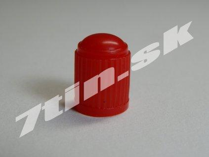 Čiapočka na ventil plastová červená